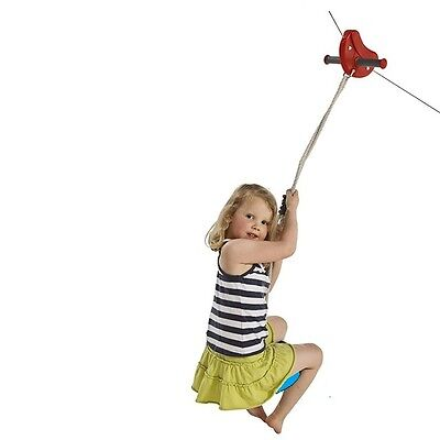ZIP LINE WIRE 30m RED + DISC SWING  flying fox Play Equipment Special Needs Kids