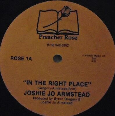 """JOSHIE JO ARMSTEAD - In The Right Place ~ 12"""" Single US PRESS"""