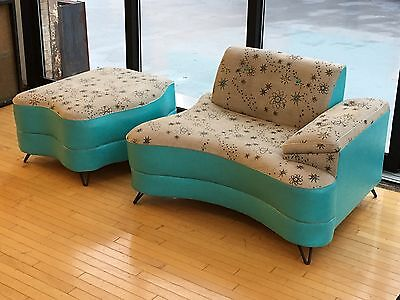 1950s 1960s Mid Century Modern Atomic Age Retro Eames Era Couch Sofa Chair