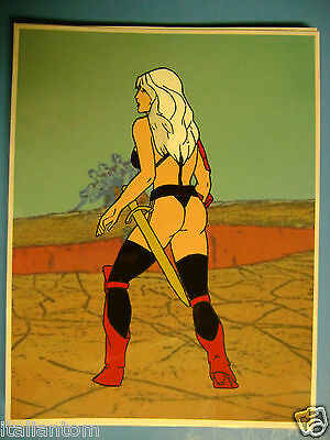 Hand Painted Handpainted Taarna Heavy Metal Animation Cel Cell Art
