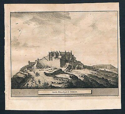 1700 - Stirling Castle Scotland United Kingdom engraving view