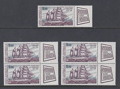 """FRENCH ANTARCTIC 1984 """"NORDPOSTA"""" EXHIBITION, 5 stamps, Mint Never Hinged"""