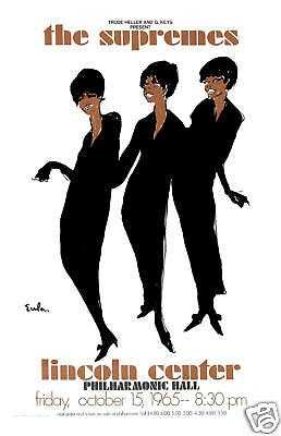 Diana Ross & The Supremes at the Lincoln Center Philharmonic Hall Poster 1965