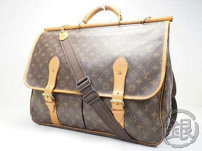 Sale AUTH PRE-OWNED LOUIS VUITTON LV SAC CHASSE HUNTING TRAVEL BAG M41140 170121