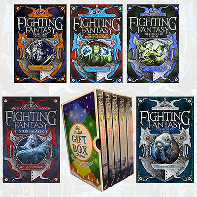 Fighting Fantasy Collection By Ian Livingstone 5 Books Gift Wrapped Slipcase US
