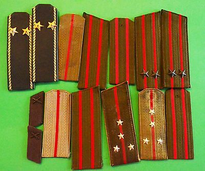 Russian USSR Red Army shoulder straps of different types of troops