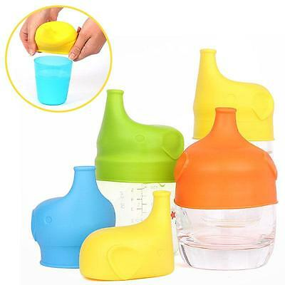 NEW Silicone Sippy Lids For Any Cup SpillProof Reusable For Toddlers Babies - CB
