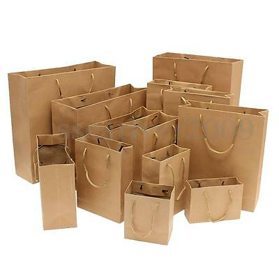 14 Size Recyclable Paper Bags With Handle For Shopping Present Party Favour Gift