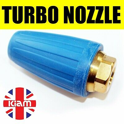 "Turbo Nozzle 4000PSI 276Bar Pressure Washer Dirt Blaster Rotating Jet 1/4"" Inlet"