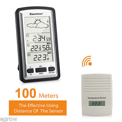 Digital Weather Station with Indoor and Wireless Outdoor Temperature Thermometer