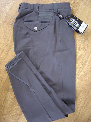 "Mark Todd Mens charcoal Hamilton breeches,flat front, 30"" waist, new with tags"