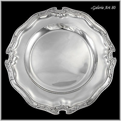 Exquisite Antique French Art Nouveau POPPY Sterling Silver Platter Serving Tray