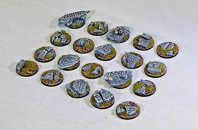 25mm round scenic Shattered Rune bases, Sci-fi fantasy by Daemonscape Qty10-50