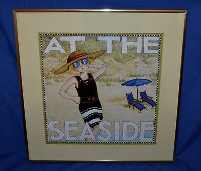 "Mary Engelbreit picture print "" At the Seaside"" framed art"