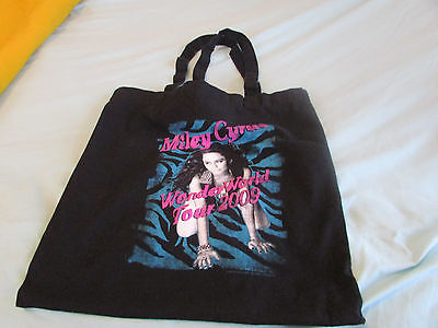 Miley Cyrus WonderWorld Tour 2009 Wonder World Tote Bag