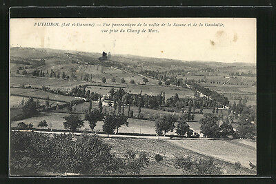 remarquable CPA Puymirol, Vue panoramique