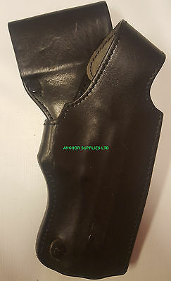 Ex Police Gun Holster Right Handed Leather PWL (A178)