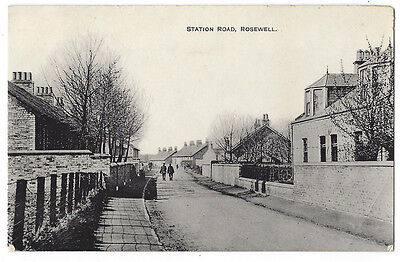 ROSEWELL Station Road, Midlothian, RP Postcard Postally Used c1916, Rosewell p/m