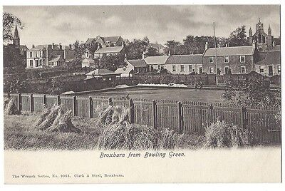 BROXBURN Bowling Green and Town, Wrench Series Postcard #9963, Unused