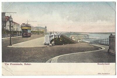 SUNDERLAND The Promenade, Roker, Old Postcard by Hills, Unposted,