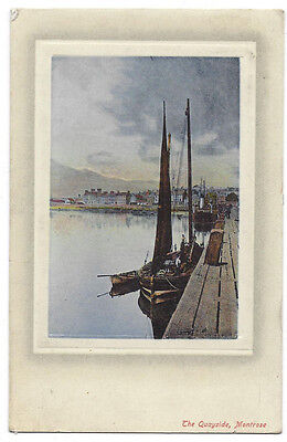 MONTROSE The Quayside, Old Postcard by Davidson, Postally Used 1909