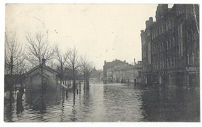 MOSCOW The Flood of 1908, Old Postcard Postally Used 1908
