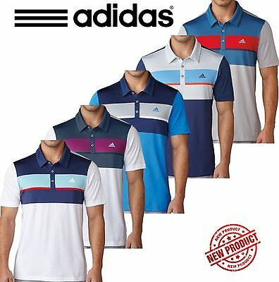 Adidas Golf Mens Climacool® Chest Block Polo Performance Golf Shirt