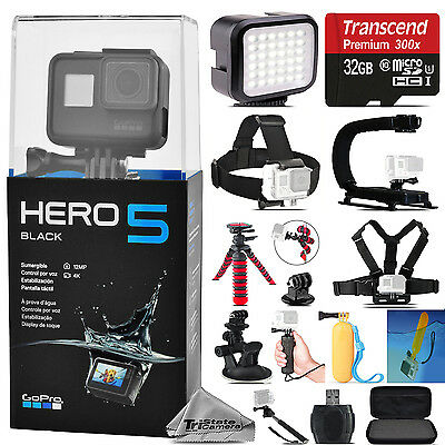 GoPro HERO 5 Black Waterproof 4K Action Camera CHDHX-501 + 32GB - Essential Kit