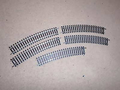Collection of R606 Nickel Silver Short Curves for Hornby OO Gauge Train Sets