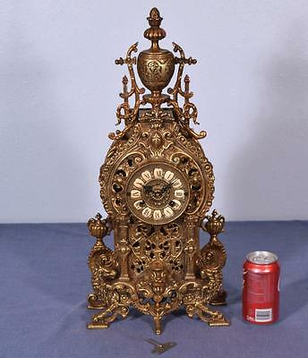 """*22"""" Large Antique French Empire Bronze Clock with Hermle/FHS Clockworks"""