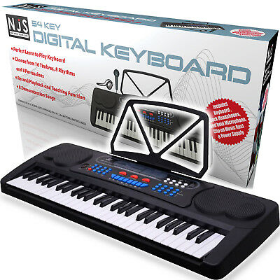 NJS 54 Key Digital Electronic Keyboard Piano Kit USB with Record / Playback NEW