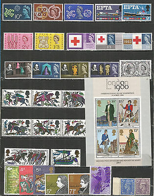 Great Britain ,  a nice small collection,  mint stamps MNH (**)