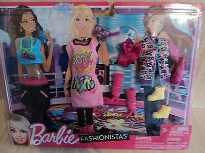 Barbie Fashionistas Rock Pop Punk Fashions and Accessories NEW