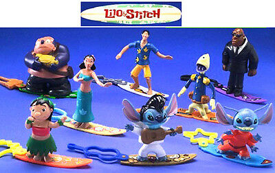 McDonalds New MIP Disney Lilo & Stitch Toys Complete set of 8 Bobblers From 2002