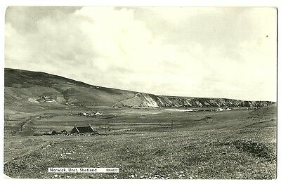 Shetland - a photographic postcard of Norwick, Unst