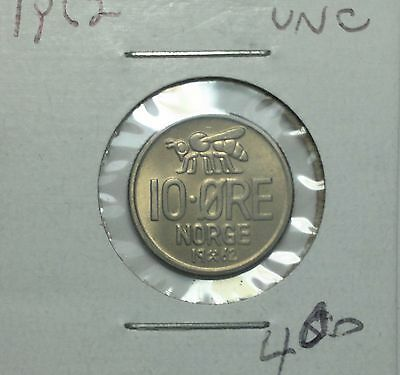 1962 Norway 10 Ore coin, (world coins)