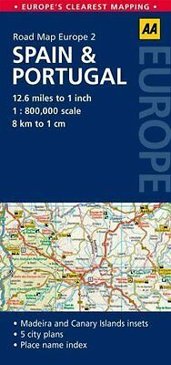 2. Spain & Portugal AA Road Map Europe by AA Publishing 9780749575304