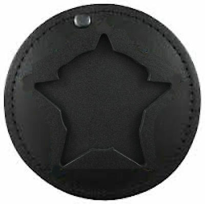 Chicago Police Badge Sheild Holder Clip On Neck Chain CPD Recessed Leather Case