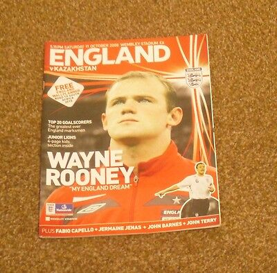FOOTBALL PROGRAMME-ENGLAND V KAZAKHSTAN (WC 2010 QUALIFYING- 11th OCT 2008)