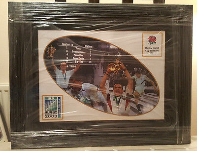 FRAMED RUGBY WORLD CUP WINNERS 2003 PRINT 58x45cm *BRAND NEW*