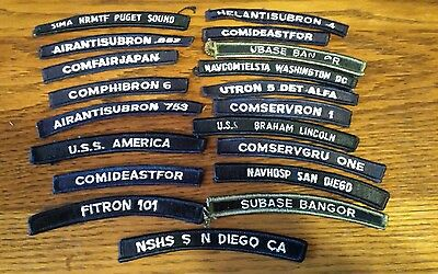 Vintage Lot of 18 Military Patches Navy Ships?