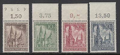 GERMANY - BERLIN 1953 CHURCH RECONSTRUCTION, Set of 4 Mint Never Hinged