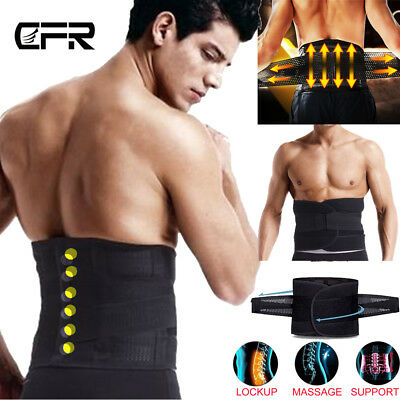 Medical Heat Waist Belt Brace For Lower Back Pain Relief Therapy Support UK HT