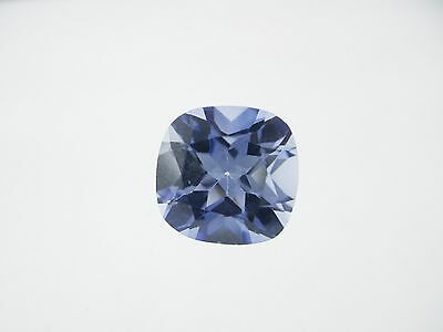 5.03ct Loose Cushion Cut Lab Created Blue Ceylon Gemstone 10 x 10mm