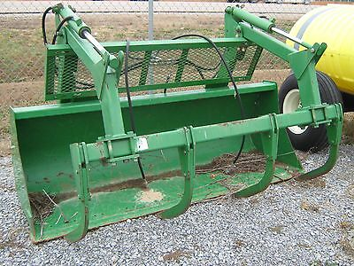 Used John Deere Grapple Bucket for 600 & 700 Series Loader Front End Koyker MDS