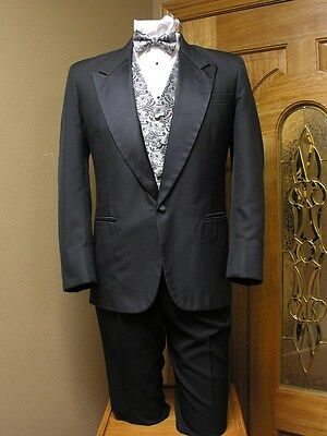 Tuxedo Coat Black Opal Pinstripe Steampunk Vintage Costume Prom Theatre Prom