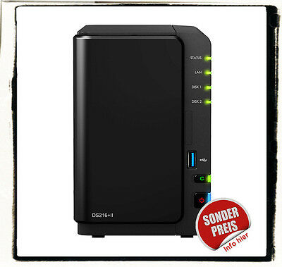 Synology DS216+II 8G 8 GB RAM RAID NAS Server HDD Bundle WD Red Seagate Toshiba