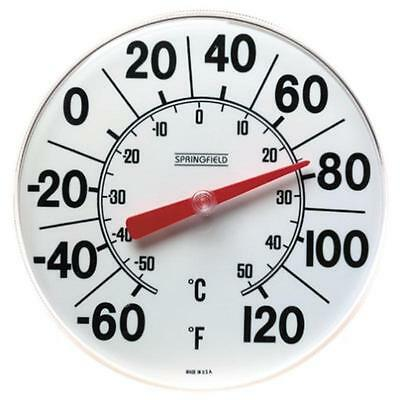 "Springfield Indoor/Outdoor Thermometer, 8"" Taylor Precision Products 90050"