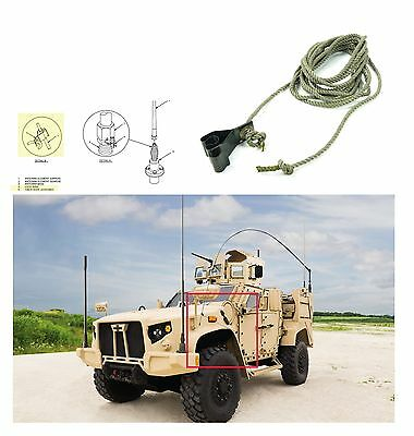 Military Mvehicles Radio Set AN/VRC Antenna 15' Tie down Rope Humvee MRAP M998
