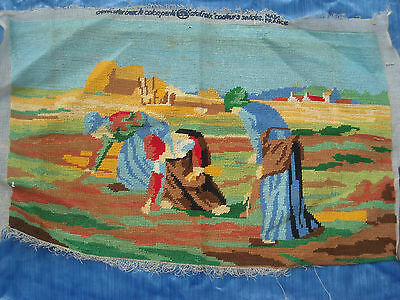 05 LES MOISSONNEUSES FRANCE Completed Needlepoint